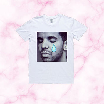 Drake Crying T-Shirt | Unisex S-XXL | Tumblr Cute Cool Kawaii Funny Lil Wayne Nicki Minaj  Emoji *ON SALE*