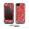 The Red Floral Sprout Skin for the Apple iPhone 5c LifeProof Case