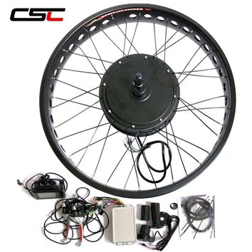 Electric Bike Kit Brushless Hub Motor Rear Snow Wheel 26inch 4.0 Tyre 48v LCD Fat Bicycle Conversion Kit 500W 750W 1000W 1500W