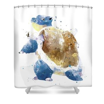 Pokemon Blastoise Shower Curtain