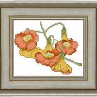 Flowers - PDF Cross Stitch Pattern - INSTANT DOWNLOAD