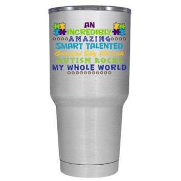 TREK An Amazing Smart Talented Kid with Autism 30 oz Tumbler Cup