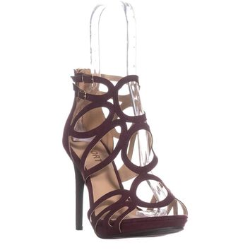 Report Triton Double Buckle Strappy Sandals, Wine, 10 US