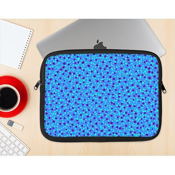 The Small Scattered Polka Dots of Blue Ink-Fuzed NeoPrene MacBook Laptop Sleeve