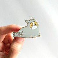 Seal Corgi Pin