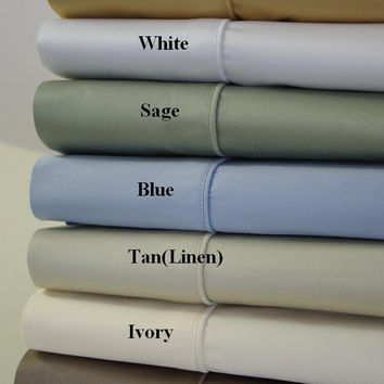 Olympic Queen Solid 450 Thread count 100% Egyptian cotton Sheet sets