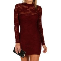 Sale-little Burgundy Lace Dress