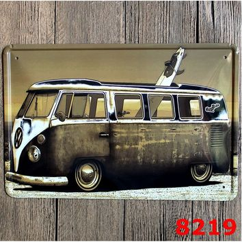 8219 BUS Tin Sign Metal Poster Hanging Wall Decor For BUS Fans ART Collection