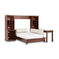 Stuff-Your-Stuff Platform Bed System (Bed, Towers, Shelves + Desk) | PBteen