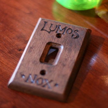 Lumos-Nox Harry Potter light switch wall panel