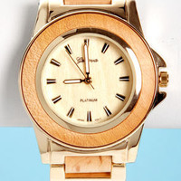 Wood-a Coulda Shoulda Gold and Wood Watch