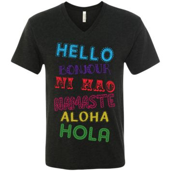 Hello Aloha Men's Travel V-Neck T-Shirt