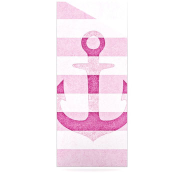 "Monika Strigel ""Stone Vintage Pink Anchor"" Luxe Rectangle Metal Art"