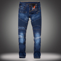 Ripped Holes Slim Stretch Jeans [10366811779]