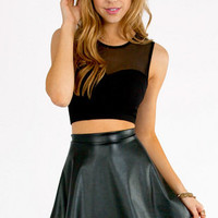 Selina Mesh Crop Top $19
