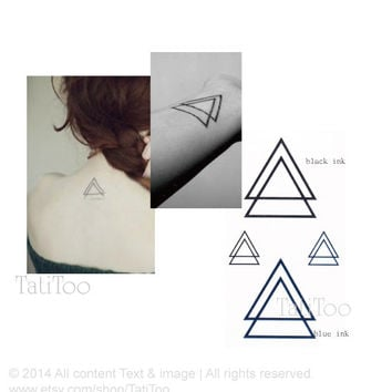 Double Triangle - Temporary Tattoo T012