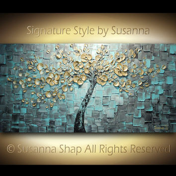 ORIGINAL Large Contemporary Textured Tree by ModernHouseArt