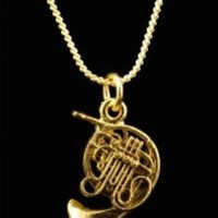 French Horn Necklace - Gold