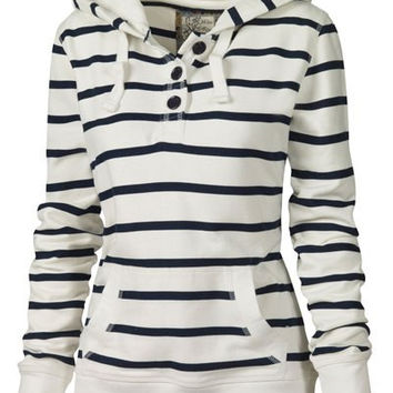 Striped Hooded Long Sleeves Hoodie