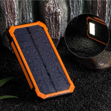 Hot Sale Solar Charger Portable Solar Power Bank 10000mAh Dual USB Battery Charger External Backup Power Pack for phone