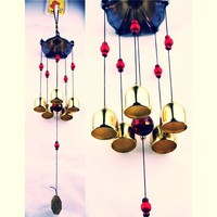 Large copper wind chimes antirust bell outdoor ~