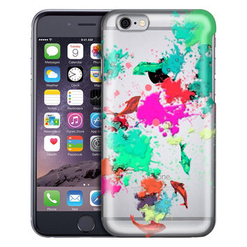 Apple iPhone 6 Abstract Paint with Fish Case