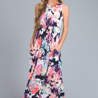 Yours Truly Floral Racerback Maxi Dress Shop Simply Me Boutique SMB – Simply Me Boutique