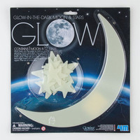 Glow In The Dark Moon & Stars Glow In The Dark One Size For Men 23196595401