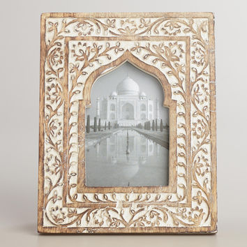 White Wooden Taj Arch Frame - World Market