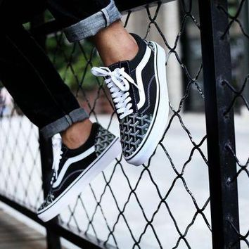ONETOW Vans Old Skool X Goyard Customs Low Tops Flats Shoes Canvas Sneakers Sport Shoes