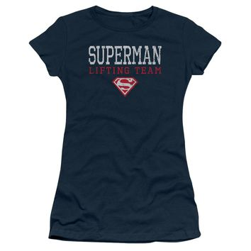 Superman - Lifting Team Short Sleeve Junior Sheer