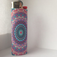 Colorful Boho Trippy Mandala Custom Full Size Lighter