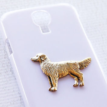 Retriever S4 Galaxy Protective Hardshell White Cellphone Case with Gold Plating iPhone 6