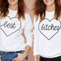 Kkarmalove Best Bitches Sweatshirt Set