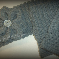 Ribbed Ear Warmer and Boot Cuff Set