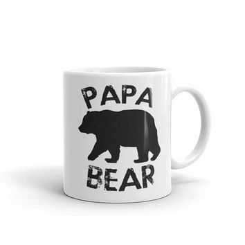 PAPA BEAR Coffee Mug, best papa ever, father gift, papa mug, papa birthday gift, papa birthday, papa present, grandparents day for papa