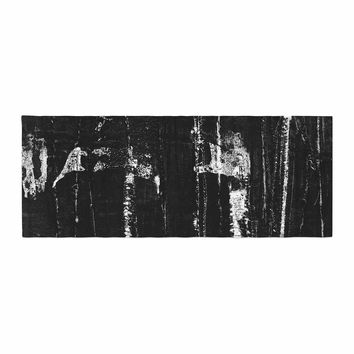 "Bruce Stanfield ""Distressed Grunge 101"" Black White Painting Bed Runner"