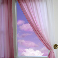 OMBRE CURTAINS Custom Colors Blue, Green, Yellow & Pink