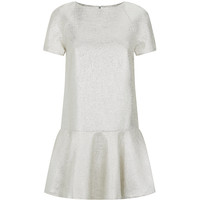 Alice + Olivia Christina Metallic Drop Waist Dress