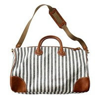 The Porchstripe Weekender - bags - Women's ACCESSORIES - Madewell