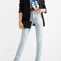 Saint Laurent - Mid-rise slim-leg jeans