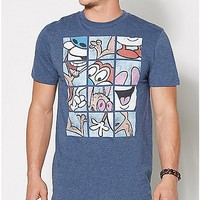 Ren and Stimpy Grid T Shirt - Spencer's