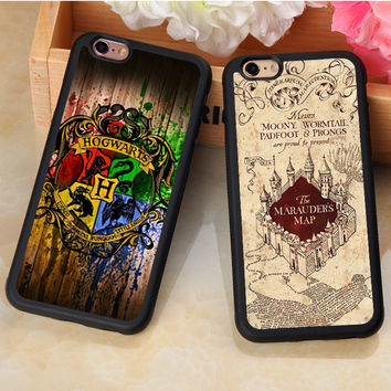 Deathly Hallows Harry Potter Hogwarts Printed Soft TPU Phone Cases For iPhone 6 6S Plus 7 7 Plus 5 5S 5C SE 4S Back Shell Cover