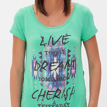 Women's Live T-Shirt in Green by Daytrip.