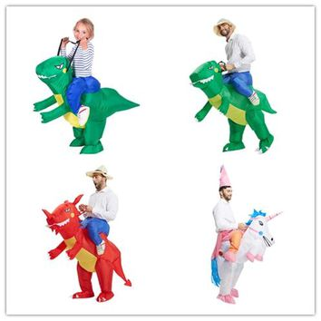 Inflatable Dinosaur Fancy Dress Kids Costume Dragon Party Outfit