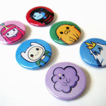 Adventure Time Buttons - Set of 6