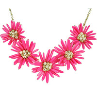 Rosy Big Flower Necklace Prom Jewelry Vintage Statement Necklaces
