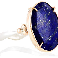 14K Gold/Sterling Silver Lapis Ring, Stone & Novelty Rings