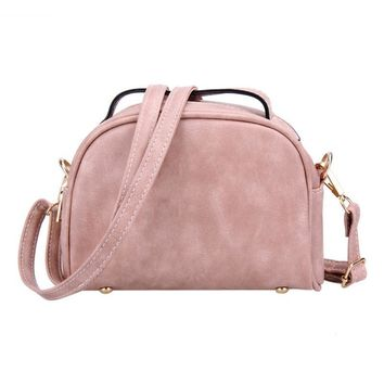 Fashion Small Women Messenger Bag PU Leather Handbag Brand Mini Shoulder Bag Crossbody Women's Clutches Purses Cell Phone Pouch