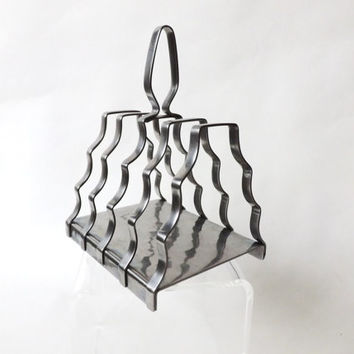 Vintage Olde Hall Toast Rack, Napkin Holder, Hammered Stainless Steel, English Old Hall, Breakfast Serving, Vintage Kitchen, Deco Toast Rack